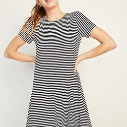 Jersey-Knit Short-Sleeve Swing Dress for Women | Old Navy (US)