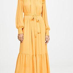 Swiss Dot Smocked Maxi Dress   Shopbop