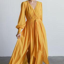 Celine Mustard Maxi Dress   Baltic Born