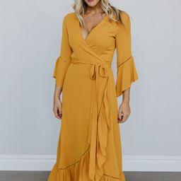 Daniella Mustard Wrap Dress   Baltic Born