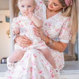 BABY ESSIE EYELET FLORAL DRESS SET   Ivy City Co