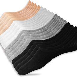 Eedor Women's 3/6/8 Pairs Thin No Show Socks Non Slip Flat Boat Line | Amazon (US)