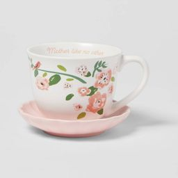 2pc Stoneware Mother Like No Other Cup and Saucer Set - Opalhouse™ | Target