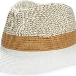 Colorblock Straw Hat | Nordstrom