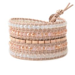 Crystals with Rose Gold Accent on Blush | Victoria Emerson