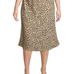Sanctuary Women's Plus Animal-Print Satin Midi Skirt - Leopard - Size 1X (14-16)   Saks Fifth Avenue OFF 5TH