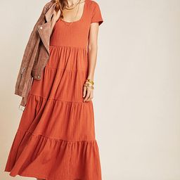 Maeve Gillian Tiered Maxi Dress By Maeve in Orange Size L   Anthropologie (US)