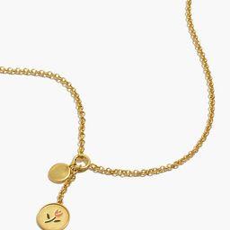 Enamel Tulip Lariat Necklace   Madewell