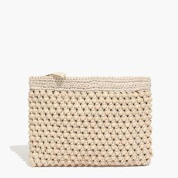 The Beaded Crochet Pouch Clutch   Madewell