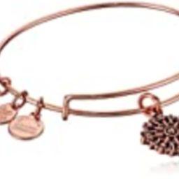 Alex and Ani Women's Compass Rose Gold Charm Bangle Bracelet, Expandable | Amazon (US)