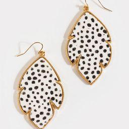 Joyce Leopard Fur Chandelier Earrings | Francesca's Collections