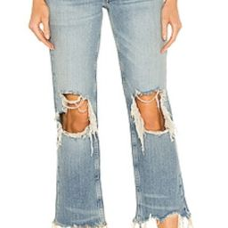 Free People Maggie Mid Rise Straight Leg Jean in Aged to Perfection from Revolve.com   Revolve Clothing (Global)