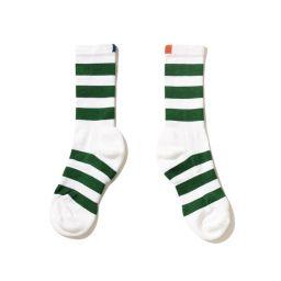The Men's Rugby Sock - White/Green   KULE (US)