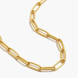 Large Paperclip Chain Necklace   Madewell