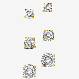 Sterling Forever Cubic Zirconia Stud Earring Boxed Set | Express