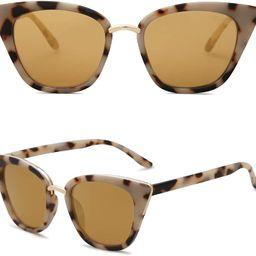 SOJOS Cat Eye Designer Sunglasses Fashion UV400 Protection Glasses SJ2052 | Amazon (US)