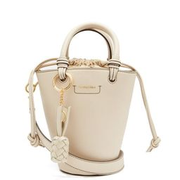 See By Chloé - Cecilia Grained-leather Bucket Bag - Womens - Beige Multi | Matchesfashion (Global)