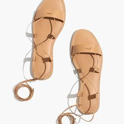 The Boardwalk Lace-Up Sandal in Leather | Madewell