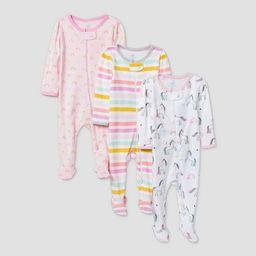 Baby Girls' 3pk Unicorn Adventure Sleep N' Play - Cloud Island™ Pink/White | Target