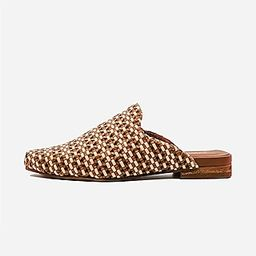KAANAS Mustique Woven Square Toe Mule   Express