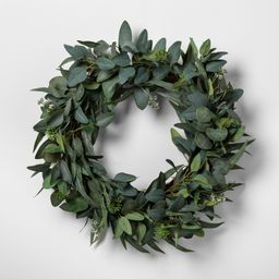 """24"""""""" Faux Seeded Eucalyptus Wreath - Hearth & Hand with Magnolia 