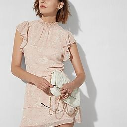 Refined Romance: Floral Dress + Quilted Bag | Express
