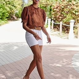 Refined Romance: Lace Pieced Top + Short | Express