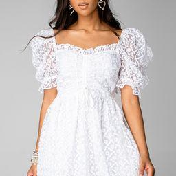 Colby Puff Sleeve Mini Dress - White   BuddyLove