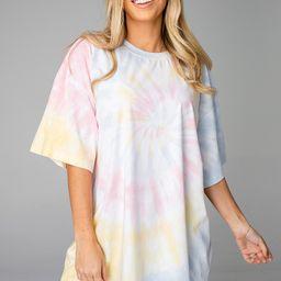 Groovy Tie-Dye Oversized Tee - Pastel | BuddyLove