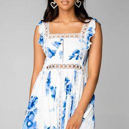 Adams Laced Mini Dress - Capri   BuddyLove