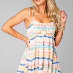 Riley Tiered Mini Dress - Mediterranean   BuddyLove