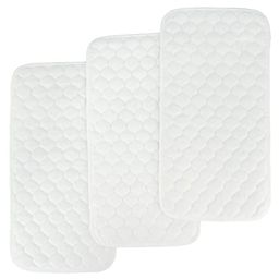 BlueSnail Bamboo Quilted Thicker Waterproof Changing Pad Liners, 3 Count (Snow White) | Amazon (US)