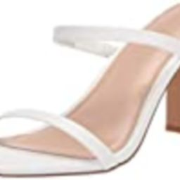 The Drop Women's Avery Square Toe Two Strap High Heeled Sandal, White, 10   Amazon (US)