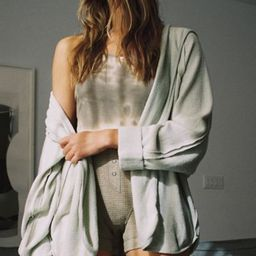 Out From Under Houston Slouchy Hooded Cardigan | Urban Outfitters (US and RoW)