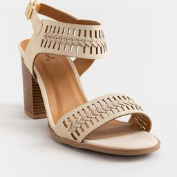 Caris Whipstitch Ankle Band Heel   Francesca's Collections