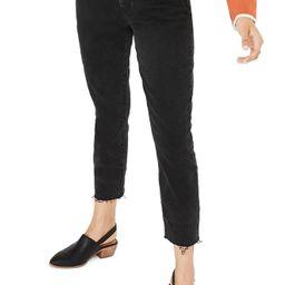 Women's Madewell High Waist Slim Crop Boyfriend Jeans, Size 27 - Black   Nordstrom