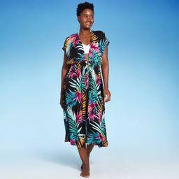 Women's Tie-Front Midi Cover Up Kimono - Kona Sol™ | Target