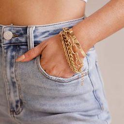 Get Attention Gold Bracelet Set   Shop Priceless