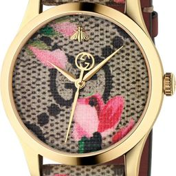 G-Timeless Floral Print GG Canvas Strap Watch, 38mm | Nordstrom