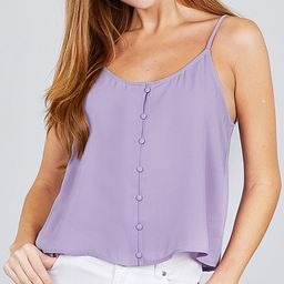 SBS Fashion Women's Blouses Lavender - Lavender Button-Up Camisole - Women   Zulily