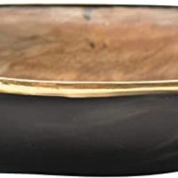 Creative Co-Op Horn Bowl with Brass Rim (Each One Will Vary) Tray, Natural | Amazon (US)