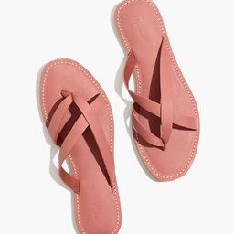 The Boardwalk Thong Sandal in Leather | Madewell