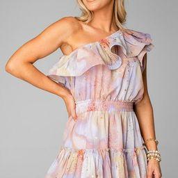 Sofia One Shoulder Ruffle Cocktail Dress - Taurus   BuddyLove