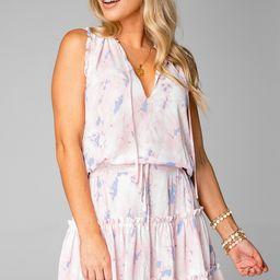 Sage Tie Waist Mini Dress - Wisteria   BuddyLove