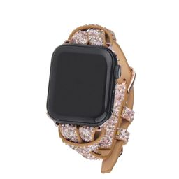 Sequin Apple Watch Strap on Rose Gold | Victoria Emerson