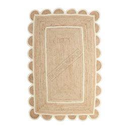 8x10 White Scalloped Jute Rug Scallop Rug Decorative Rug   Etsy   Etsy (US)