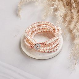 Freshwater Pearls on Blush Pink | Victoria Emerson