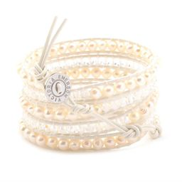 Freshwater Pearls and Crystals on White | Victoria Emerson