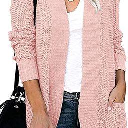ZESICA Women's Long Sleeve Open Front Casual Lightweight Soft Knit Cardigan Sweater Outerwear wit...   Amazon (US)