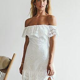 Eyelet Lace Off The Shoulder Dress | Express